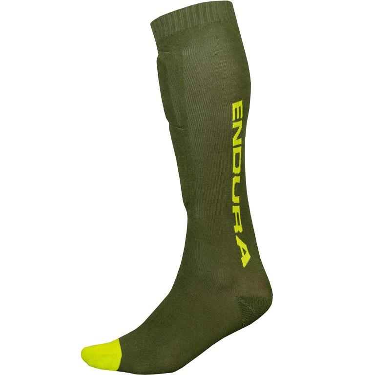Produktbild von Endura SingleTrack Schienbeinprotektor Socken - waldgrün