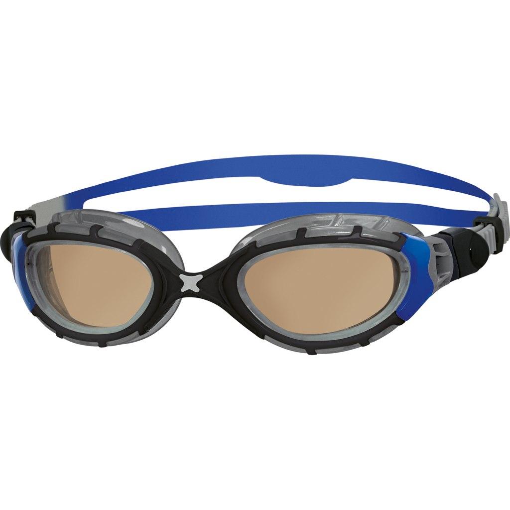 Zoggs Predator Flex Polarized Ultra Schwimmbrille - Black/Blue/Copper Polarized