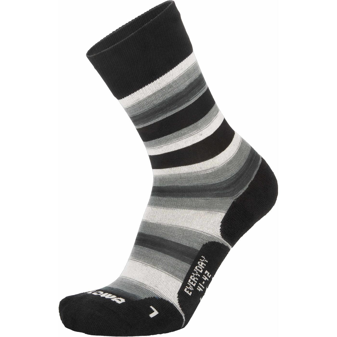LOWA Everyday Socks - grey/black striped