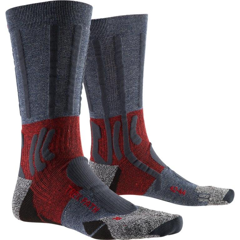 X-Socks Trek Path Socken - midnight blue/dark ruby