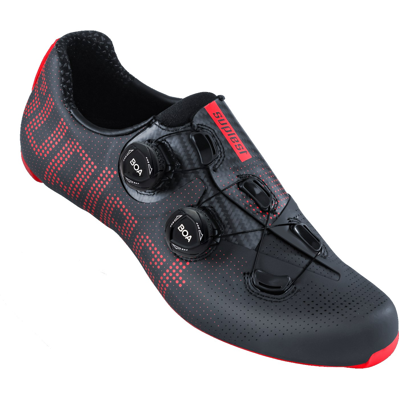 Suplest EDGE+ Double BOA IP1 Road Pro Shoe - Anthracite / Neon Red 01.061.