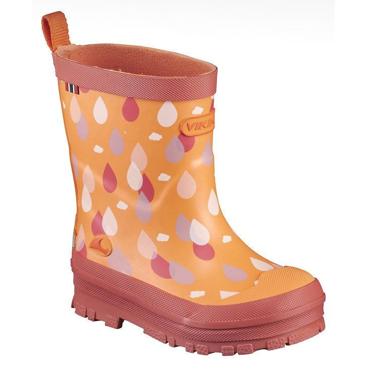 Viking Drape Kids Rubber Boot - coral 51