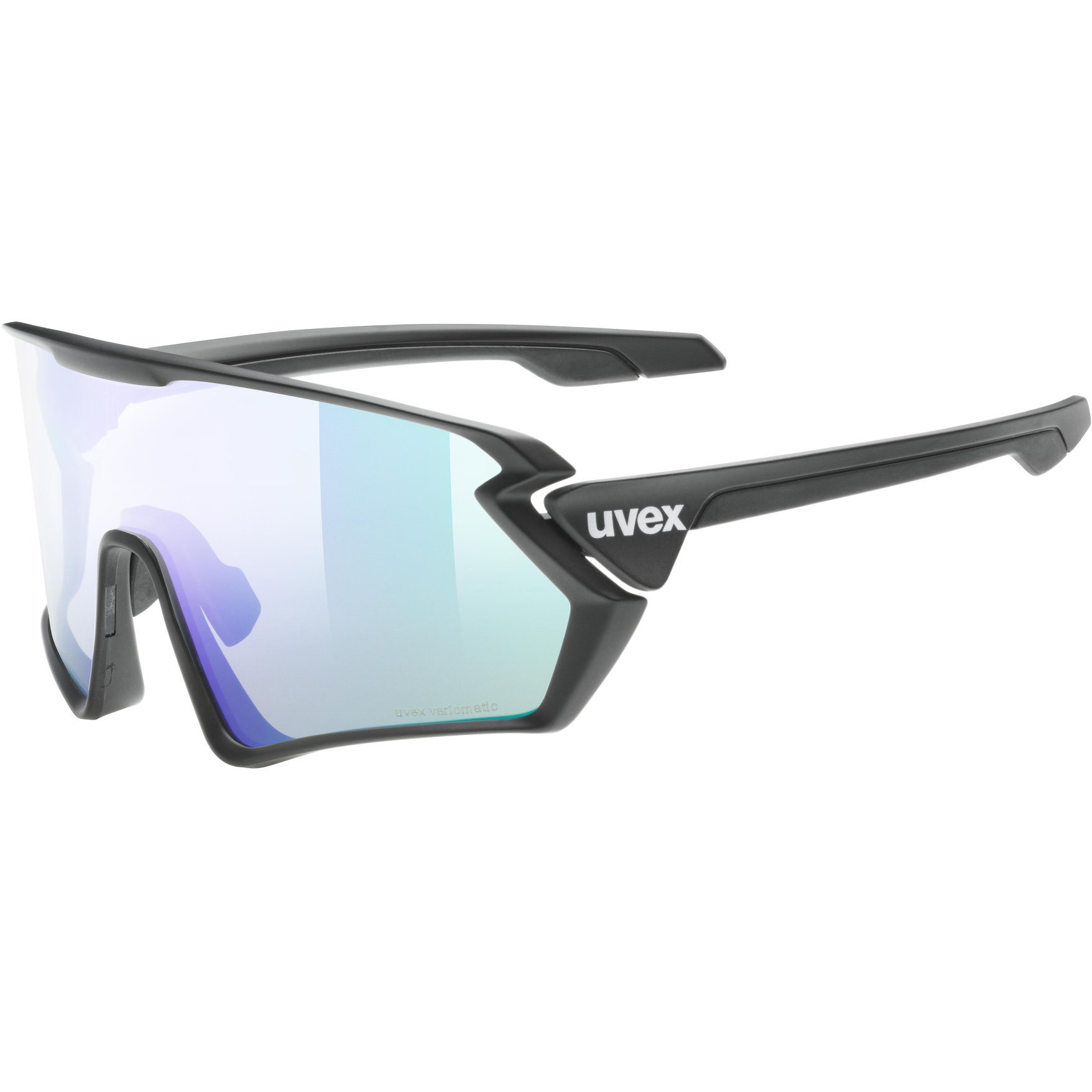 Uvex sportstyle 231 V variomatic Glasses - black mat/variomatic litemirror green + clear