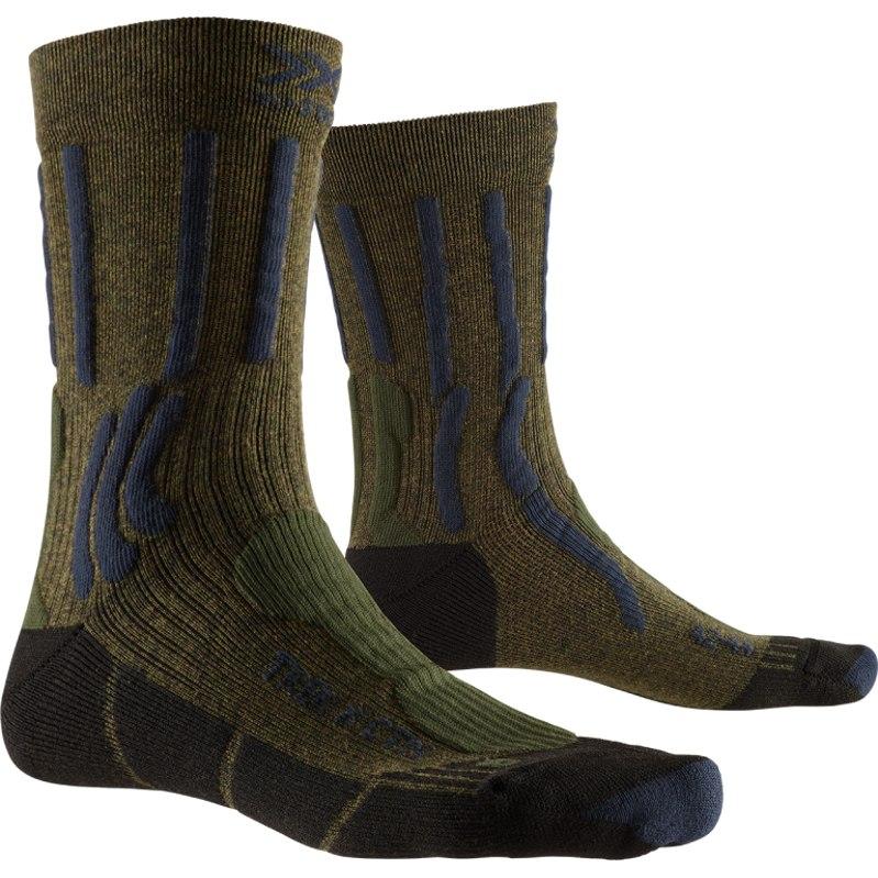 X-Socks Trek X CTN Socken - forest green/midnight blue