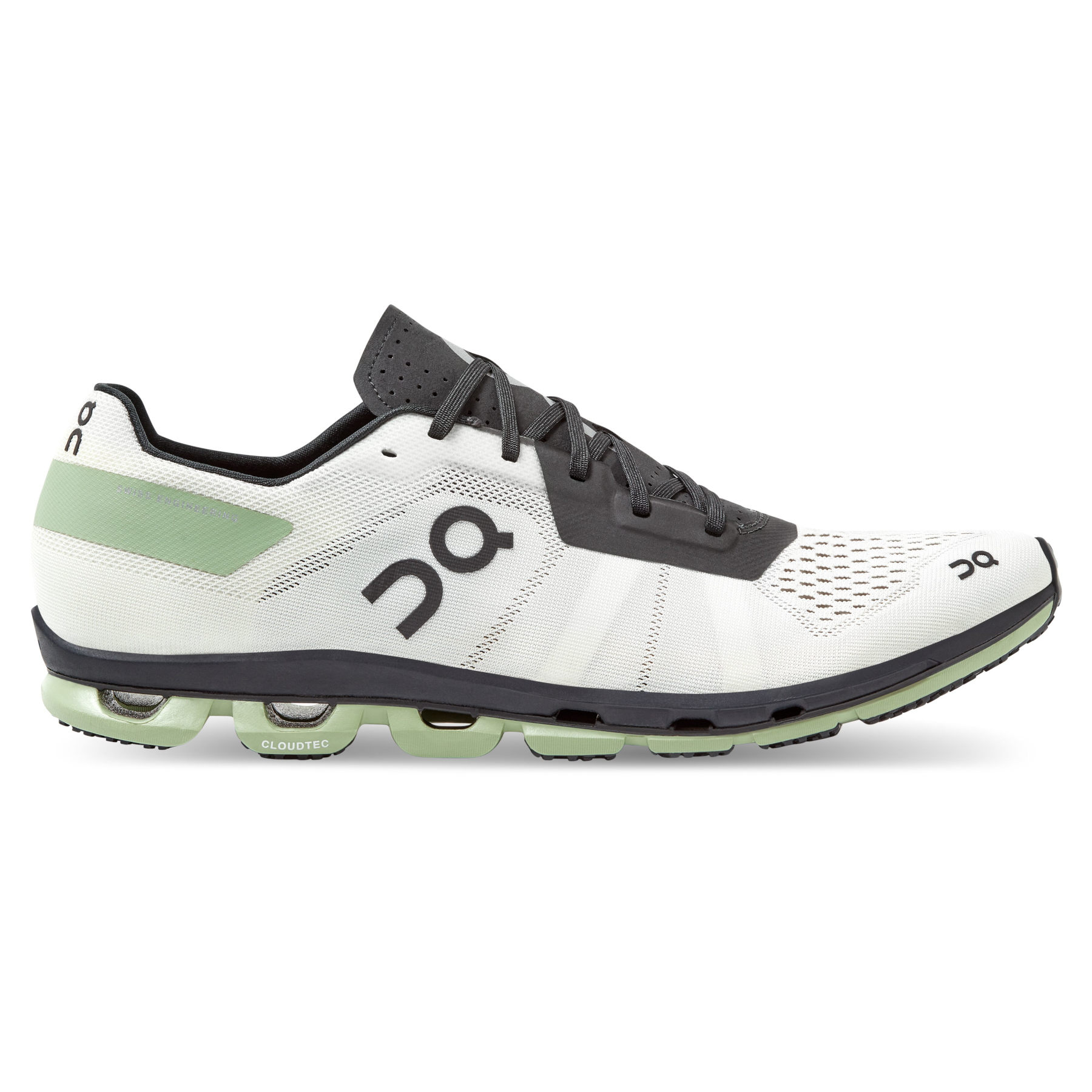 On Cloudflash Zapato Running Hombre - White & Black