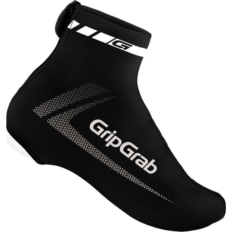 GripGrab RaceAero Lightweight Lycra Shoe Cover - Black