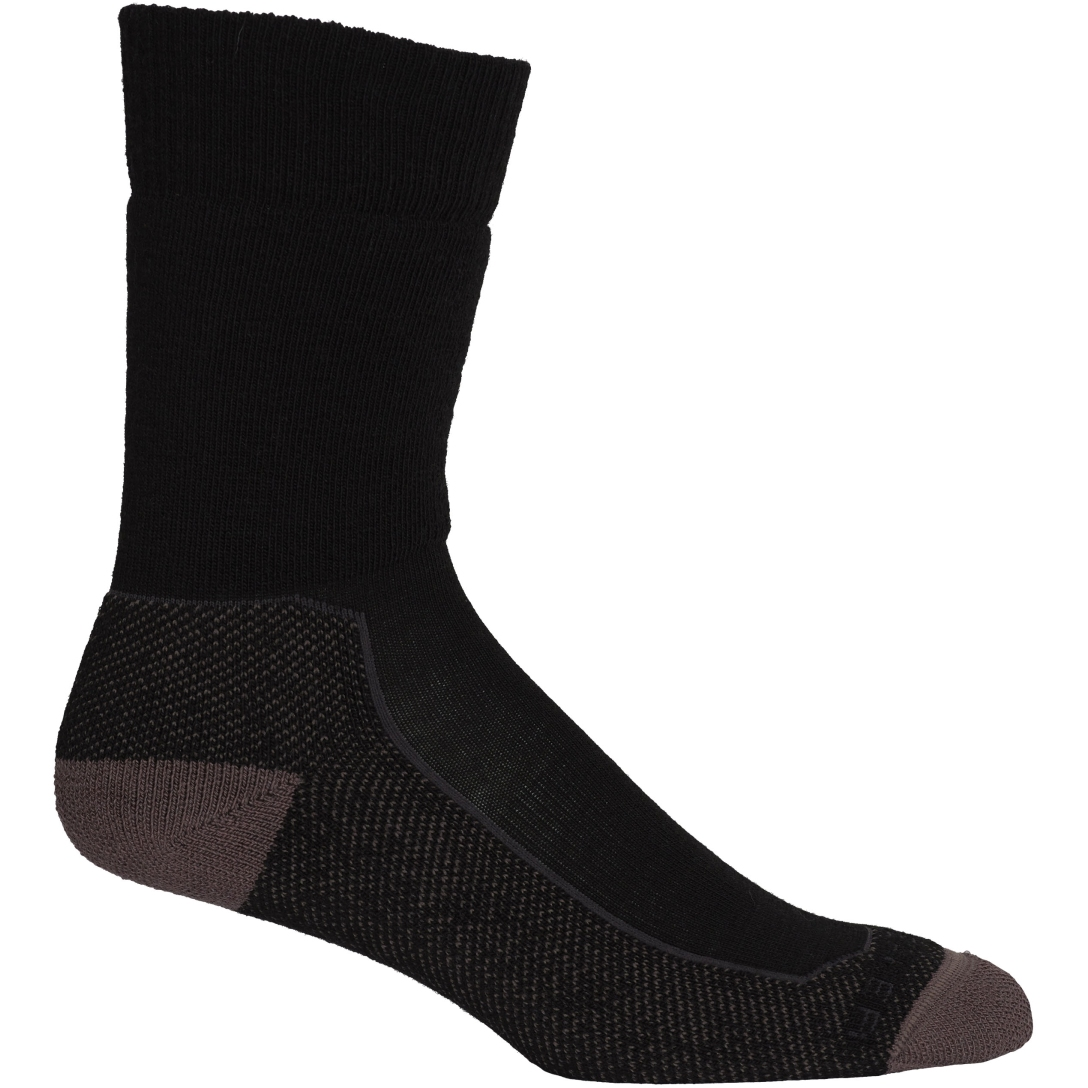 Produktbild von Icebreaker Hike+ Medium Crew Herren Socken - Black/Mink/Monsoon