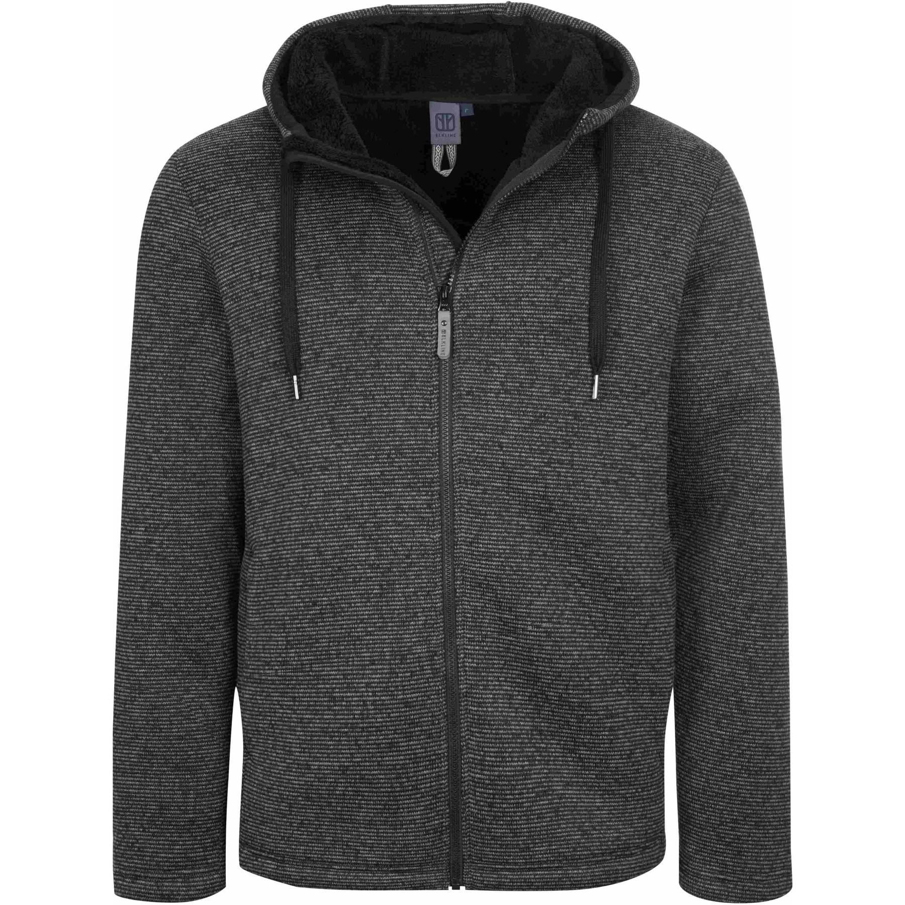 Elkline NO IDEA Fleece Jacket - anthra - black