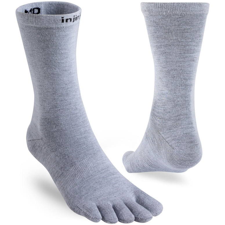 Injinji Liner Crew Coolmax® Socks - heather grey