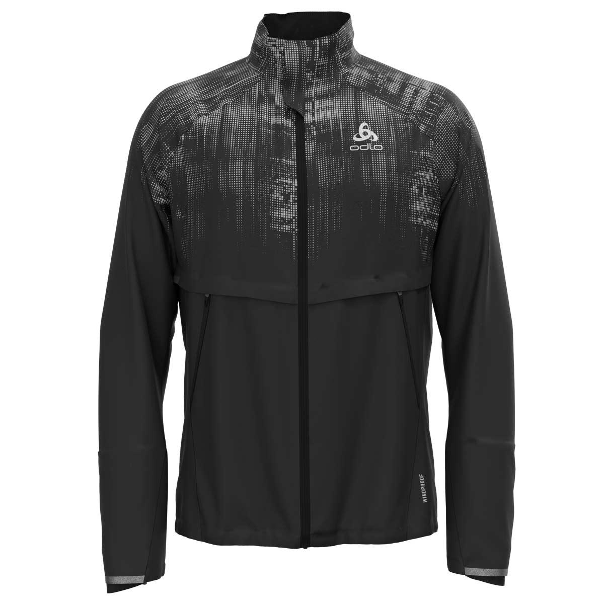 Odlo Men's ZEROWEIGHT PRO WARM REFLECT Jacket 322622 - 60239 black - reflective graphic