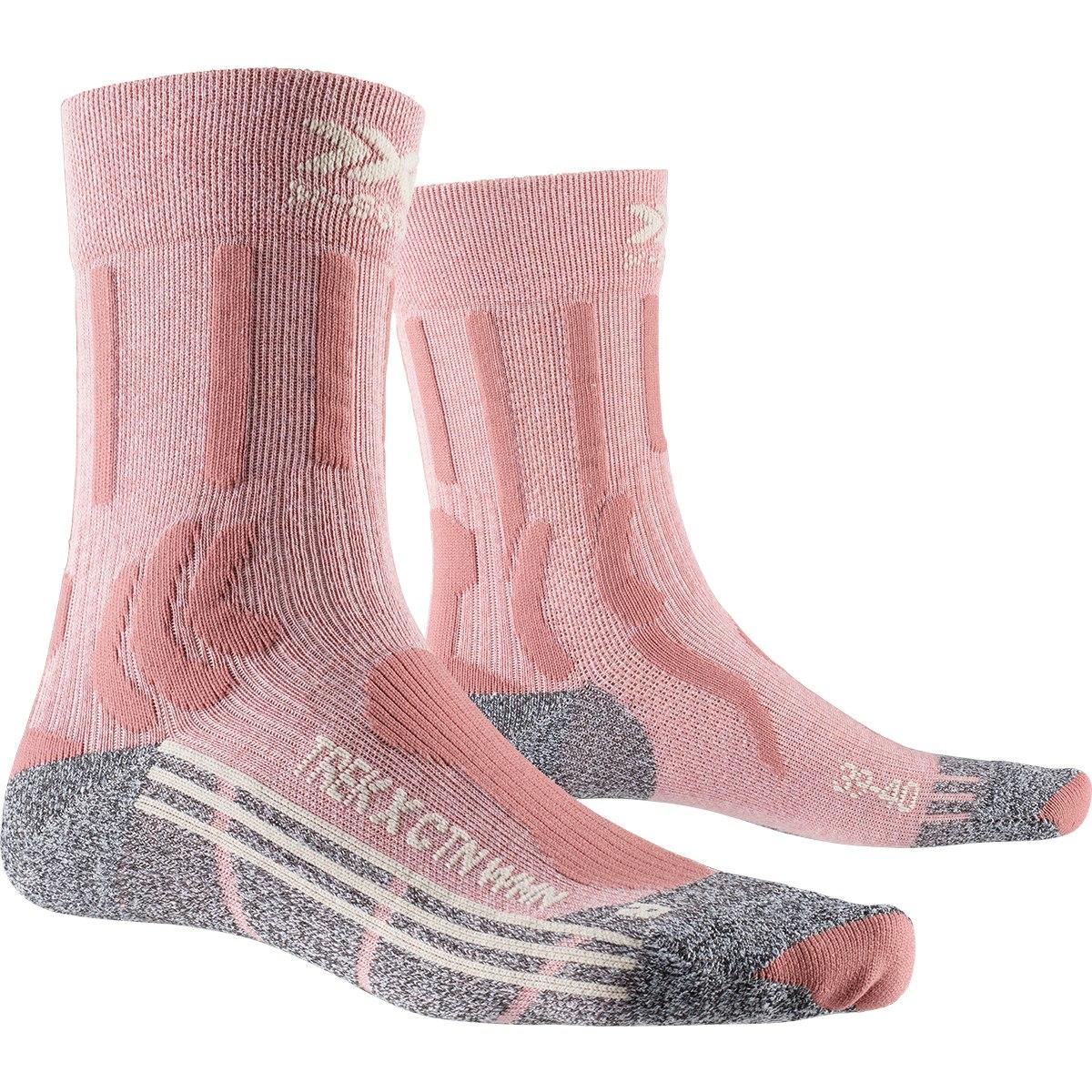 X-Socks Trek X CTN Damen Socken - vintage rose melange/grey melange