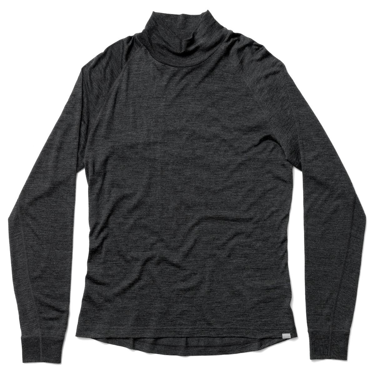 Houdini Men's Activist Turtleneck Long-Sleeve Shirt - True Black