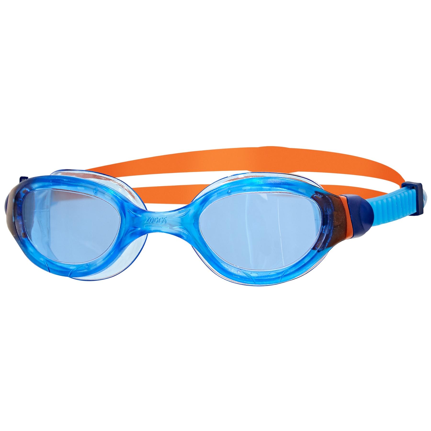 Zoggs Phantom 2.0 Junior Schwimmbrille - translucent blue/orange/tint