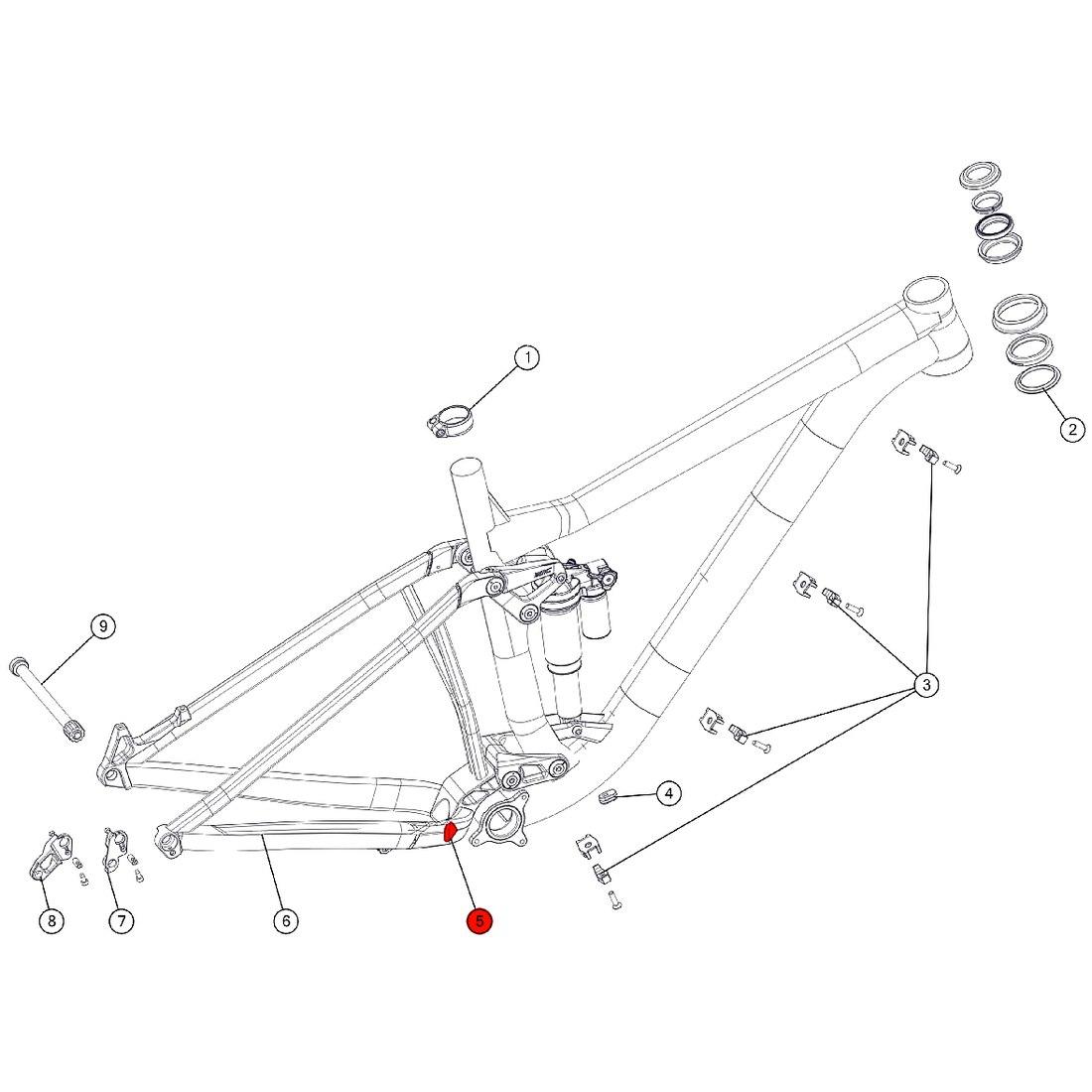 BMC Anti Chainsuck Plate for Trailfox 02 / 03 (MY 2018) - 301187 - silver