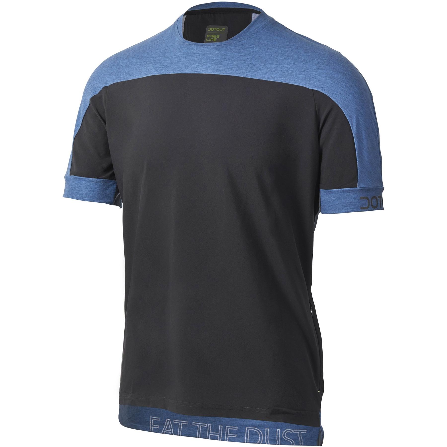 Picture of Dotout Cross T-Shirt - black/melange blue