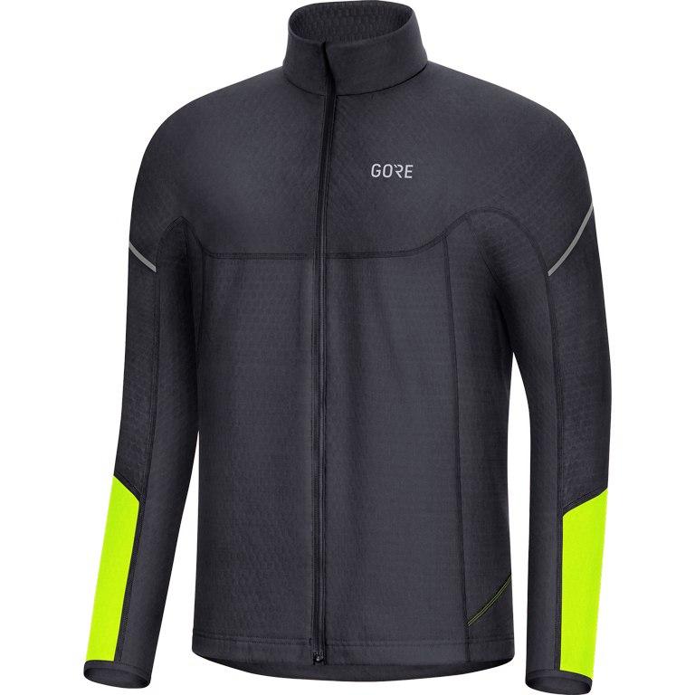 Produktbild von GORE Wear M Thermo Zip Shirt langarm - black/neon yellow 9908