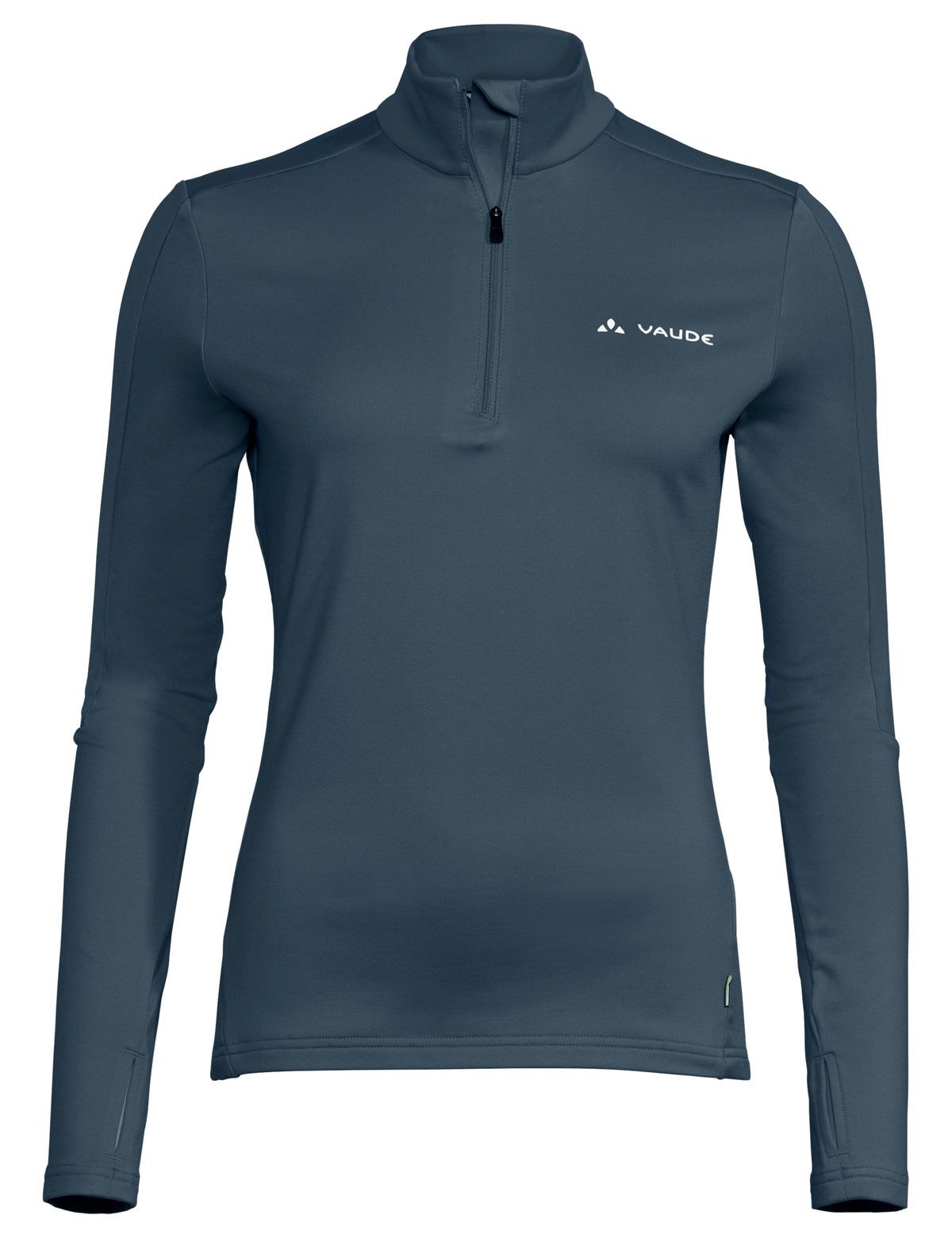 Vaude Livigno Halfzip II Damen Shirt - steelblue