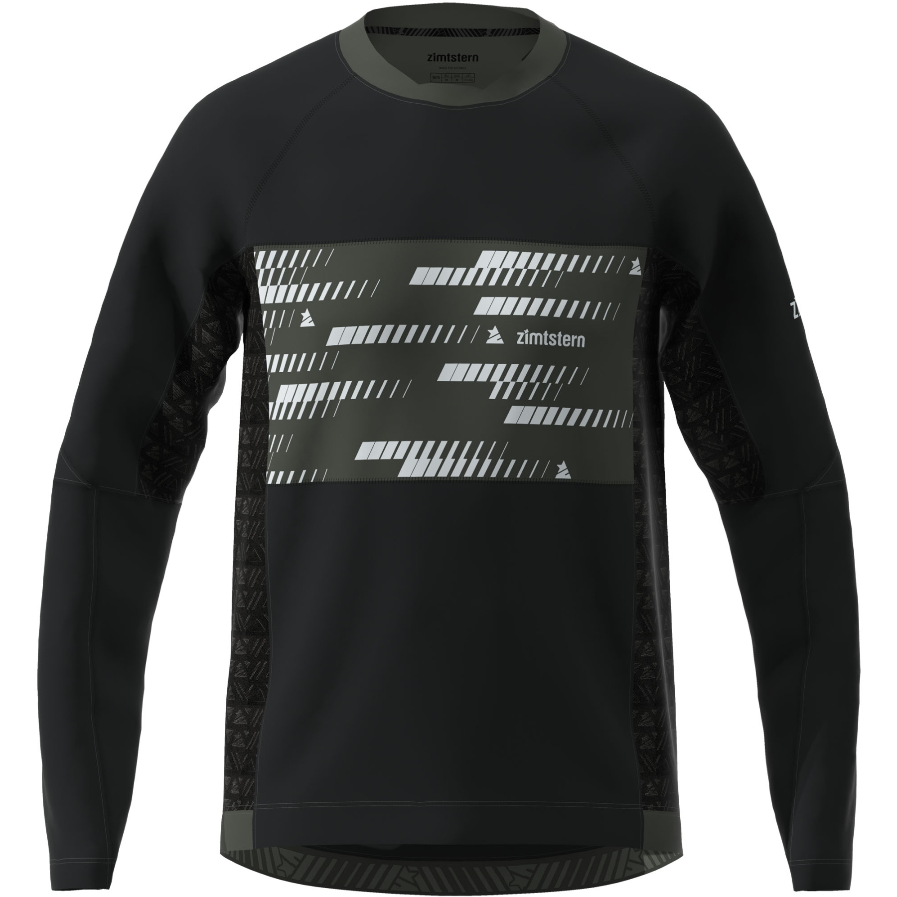 Zimtstern TechZonez Langarm-Shirt - pirate black/gun metal