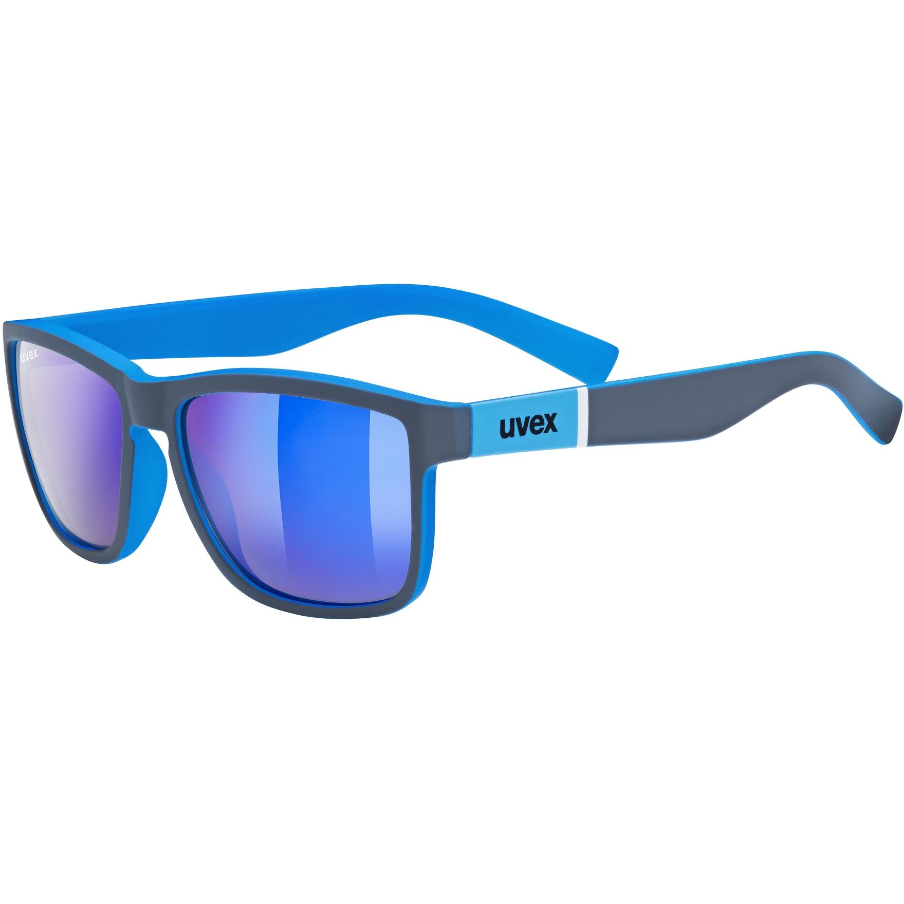 Uvex lgl 39 Glasses - grey mat blue/mirror blue