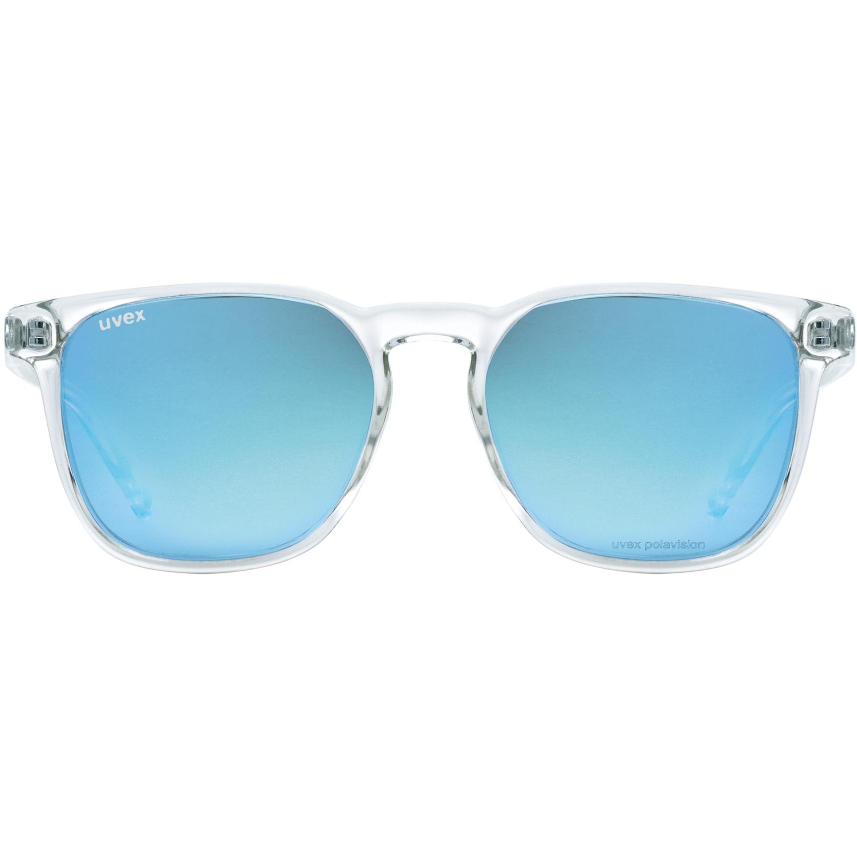 Image of Uvex lgl 49 P Glasses - clear/polavision mirror blue