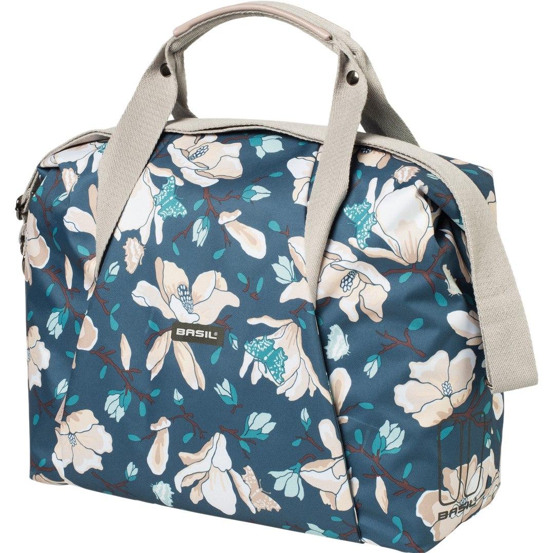 Basil Magnolia Carry All Bag - Shoulder / Carrier Bag - teal blue