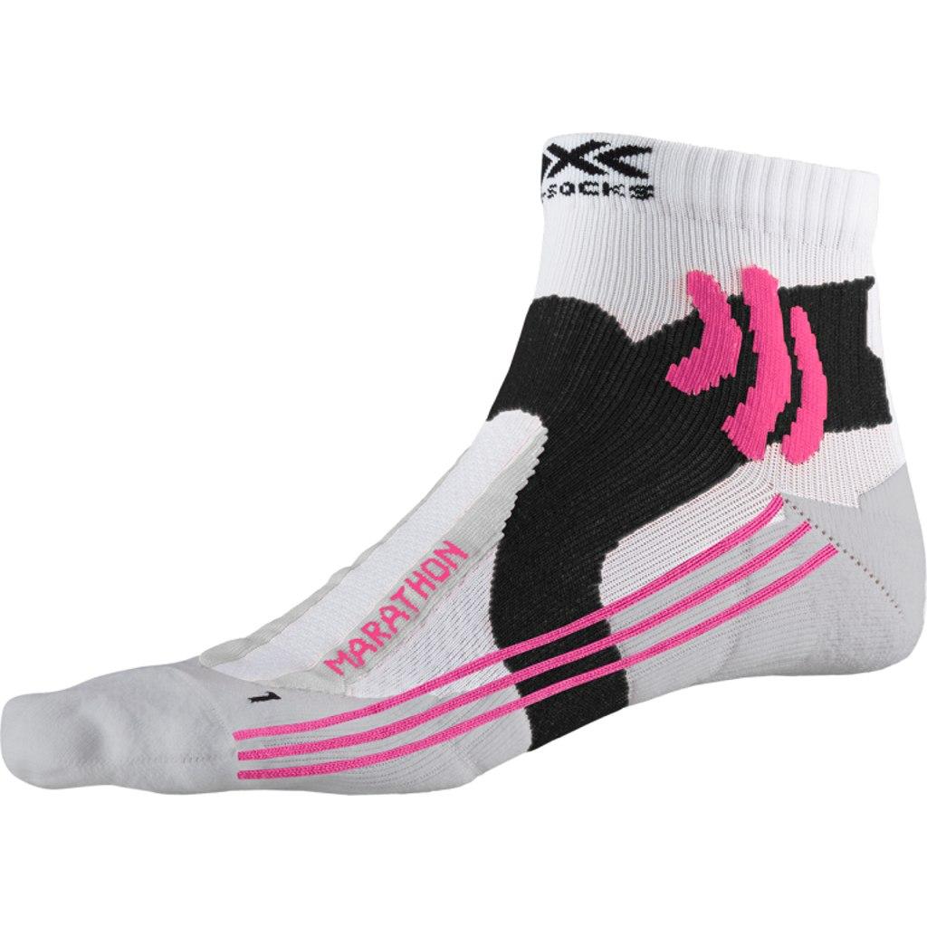 X-Socks Marathon Laufsocken für Damen - arctic white/pearl grey
