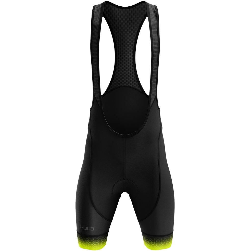 Produktbild von HUUB Design Core 3 Trägerhose - schwarz/fluo gelb