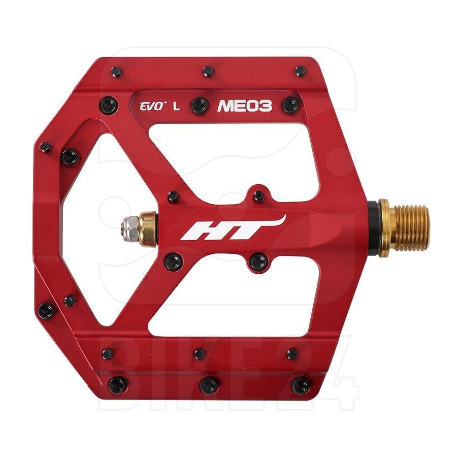 HT ME03T EVO+ Flat Pedal Magnesium / Titanium - matte red