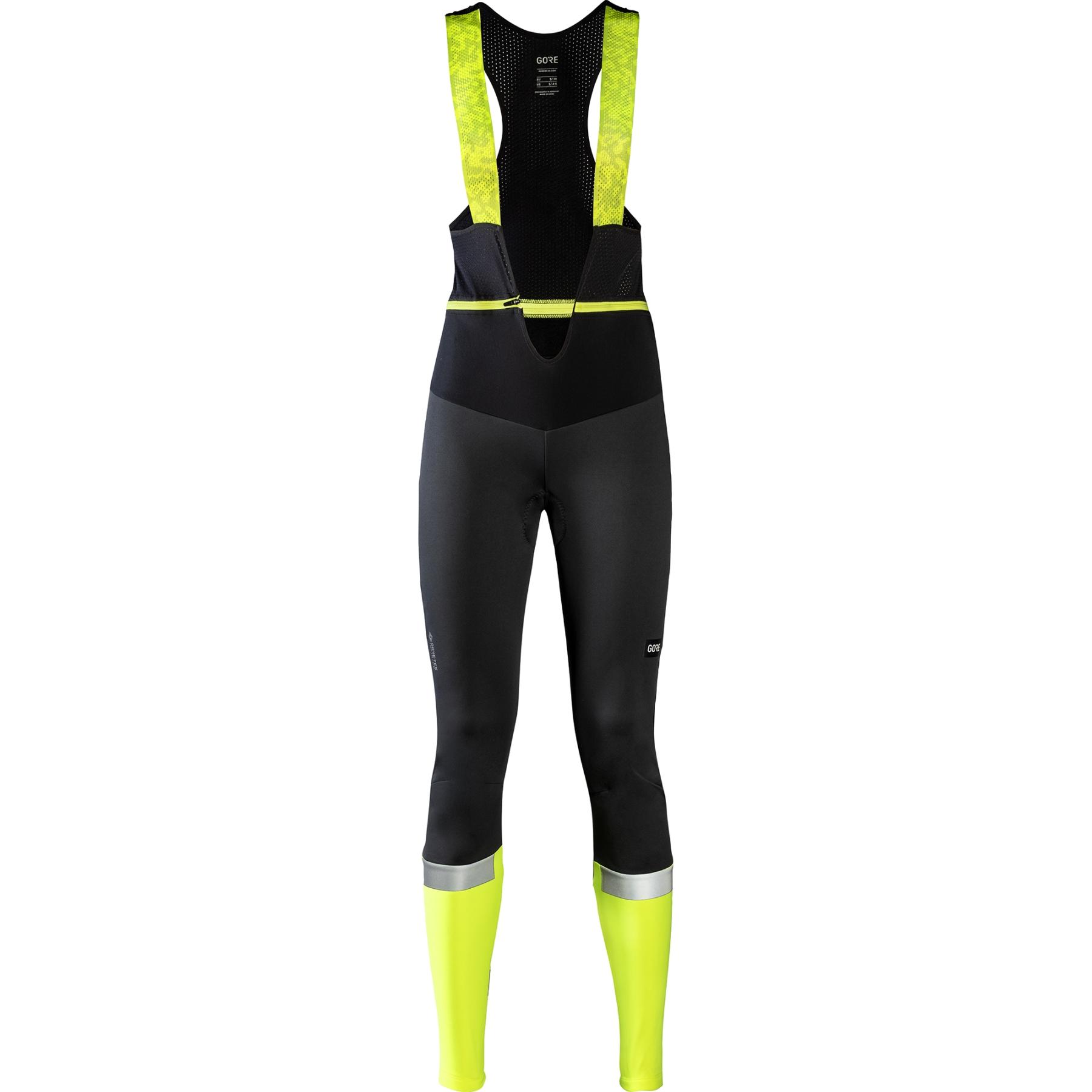 GORE Wear Ability Thermo Peto y Tirantes de Pantalones para Mujer - negro/amarillo neón 9908