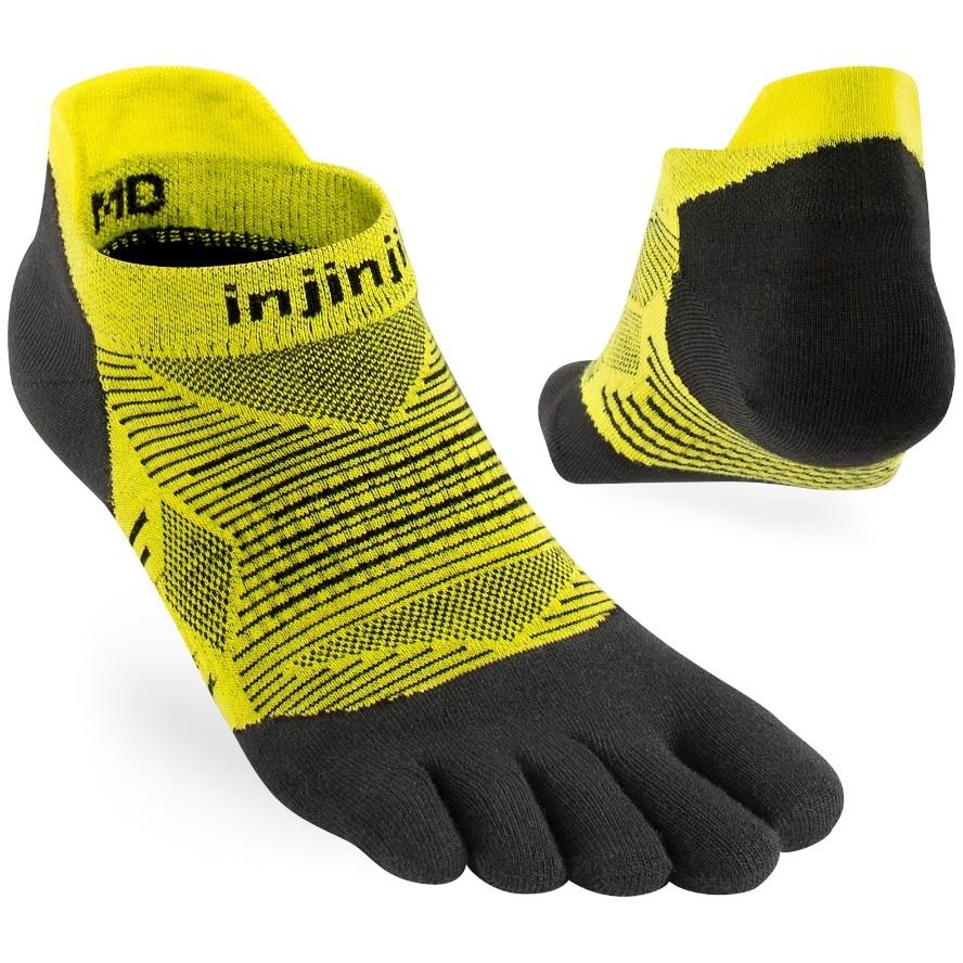 Injinji Run Lightweight No-Show Coolmax Socken - limeade