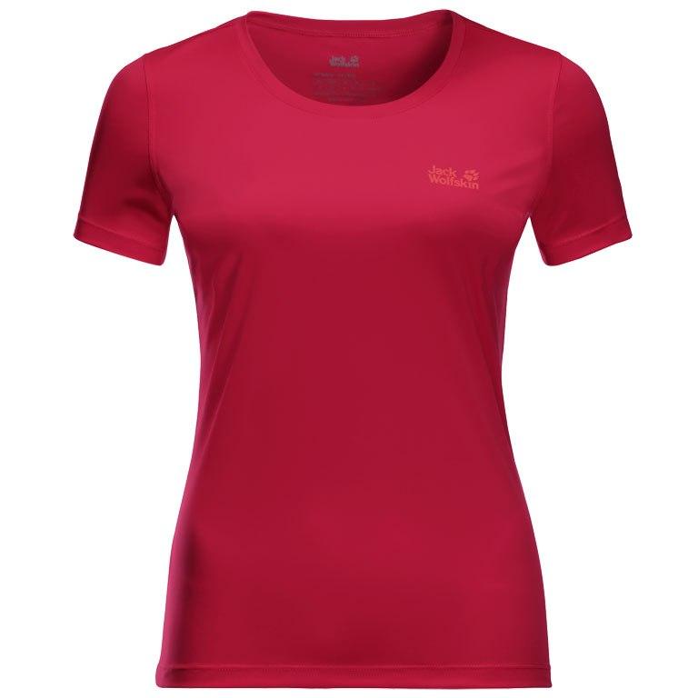 Jack Wolfskin Tech Damen T-Shirt - scarlet