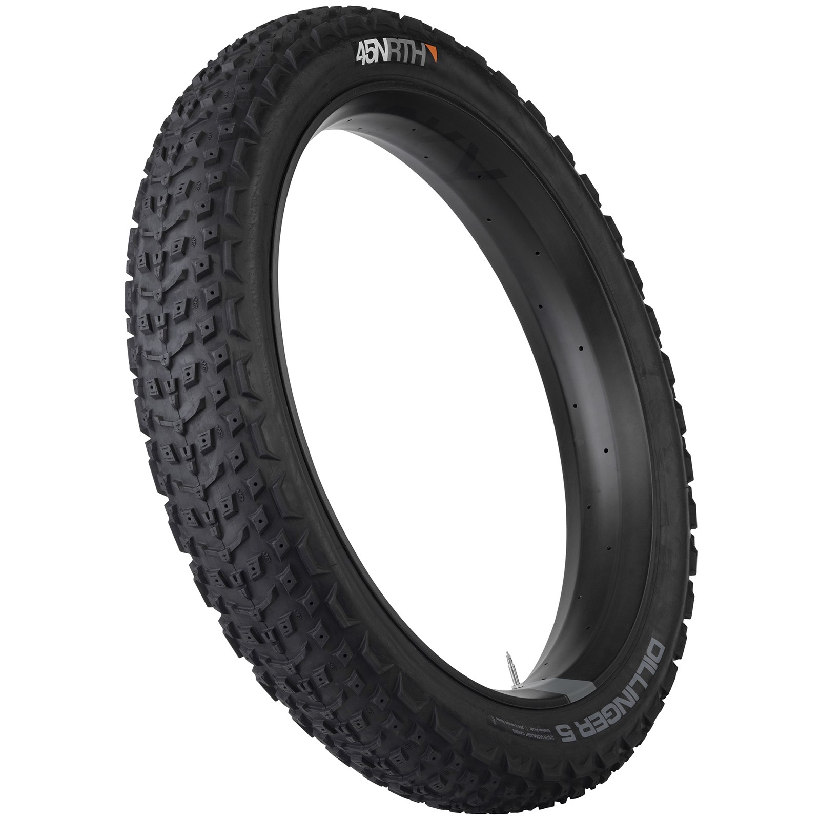 Imagen de 45NRTH Dillinger 5 Fatbike Folding Tire - Spike Ready - Tubeless Ready - 26x4.6 Inches - 120TPI Ultralight
