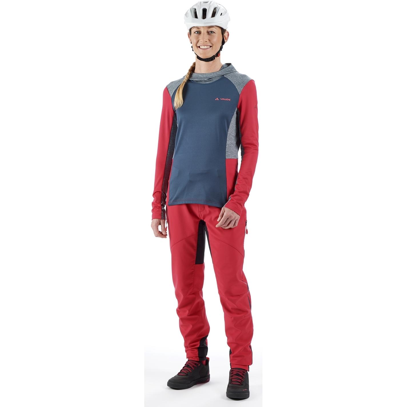 Image of Vaude Women's Qimsa LS T-Shirt - crimson red