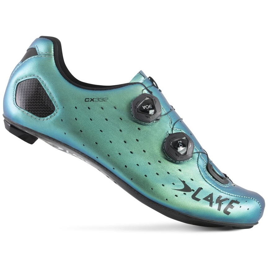 Lake CX332-X Wide Rennradschuh - chameleon green