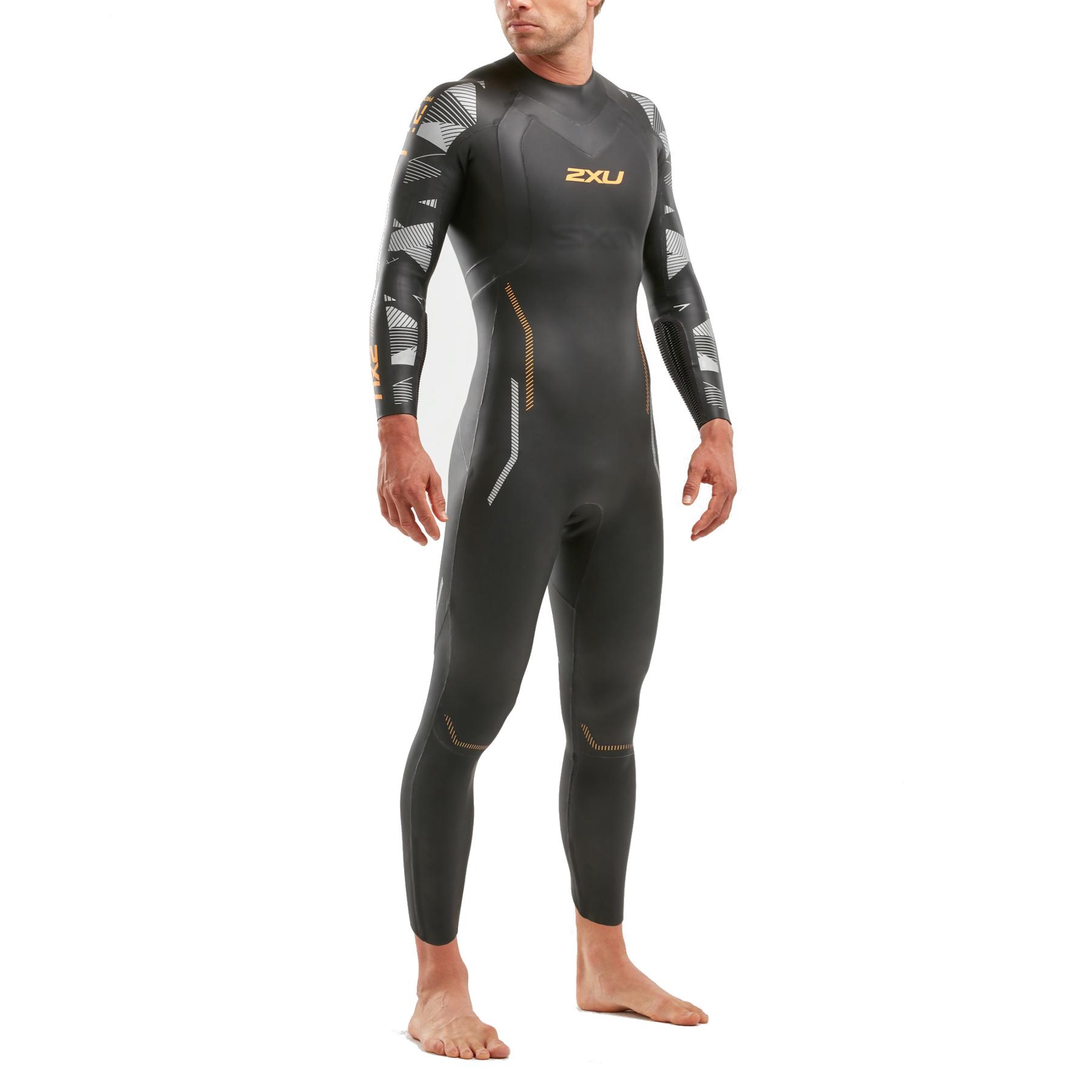 2XU P:2 Propel Wetsuit - black/orange fizz