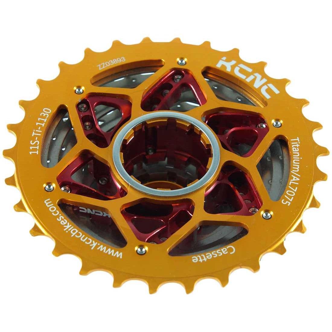Image of KCNC Road Bike Titanium Cassette 11-30T for Shimano/SRAM 11-speed
