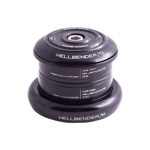 Cane Creek Hellbender 70 Short Cover Complete Headset - Tapered - ZS44/28.6/H8 | EC44/40 - black