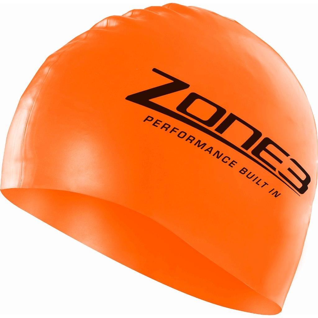 Zone3 Silikon Badekappe - neon orange