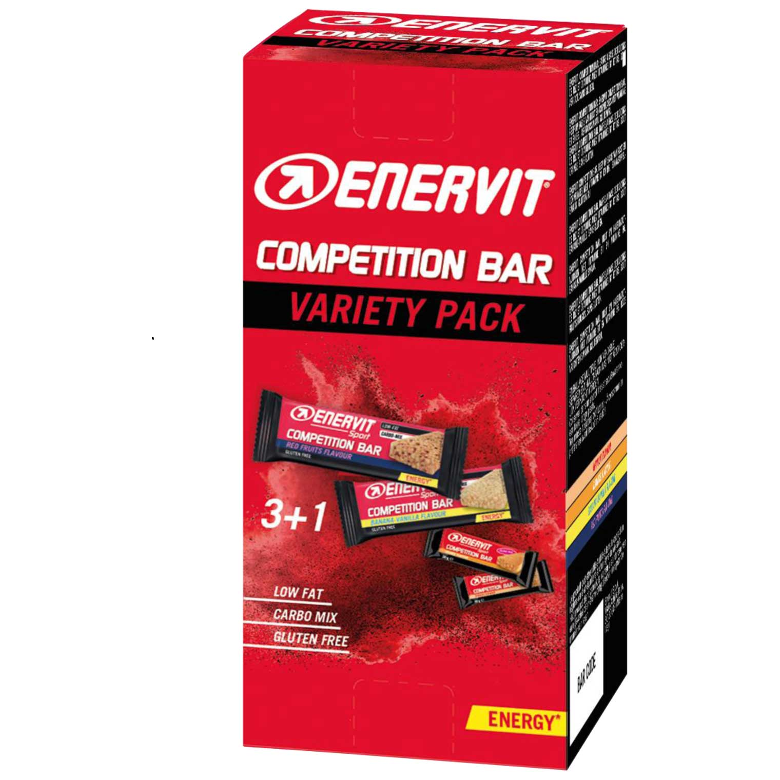 Enervit Competition Bar Variety Pack  3+1 - with Carbohydrates - 4x30g