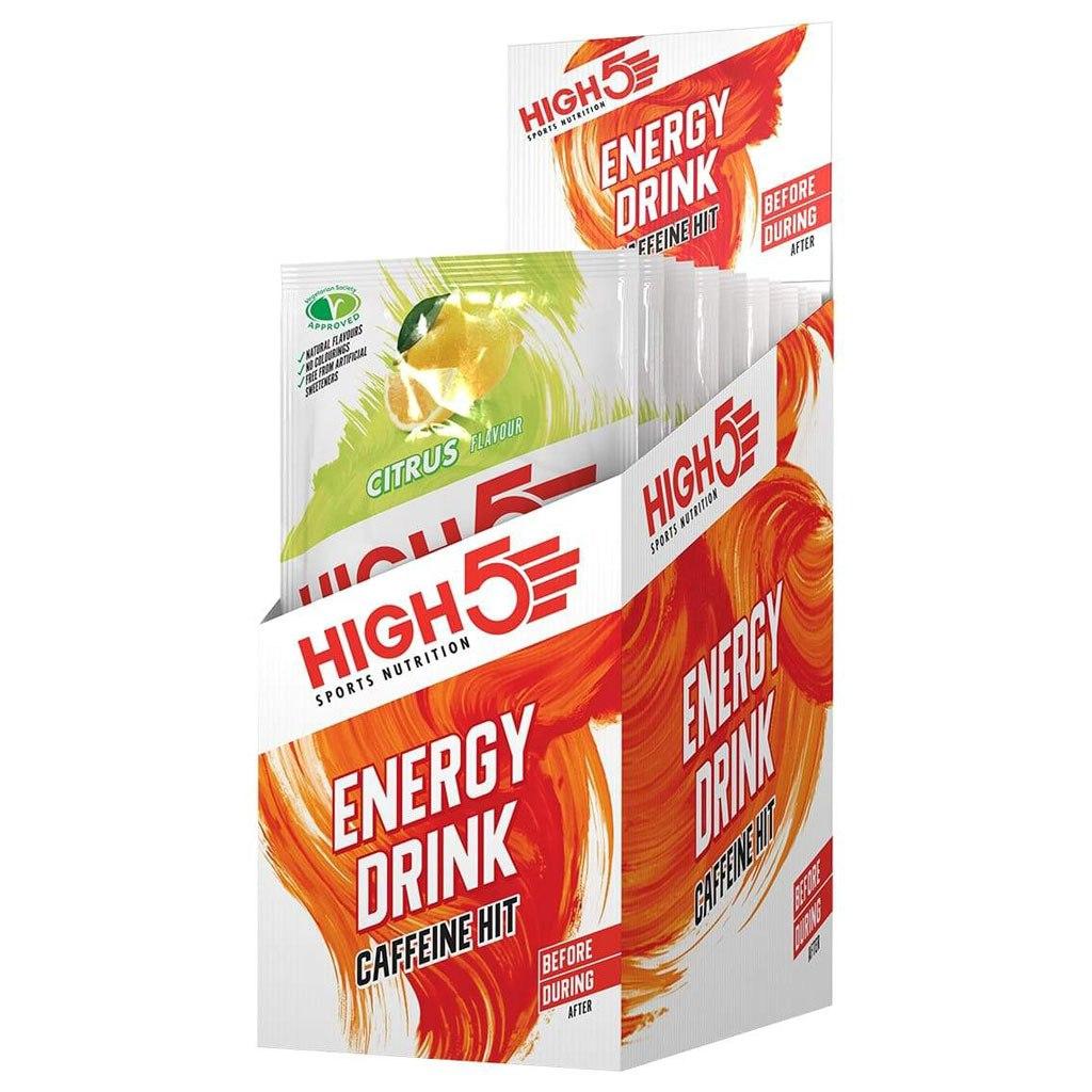 High5 Energy Drink Caffeine Hit - Carbohydrate Beverage Powder - 12x47g