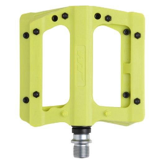Bild von HT PA12A NANO P Flat Pedal Aluminium - gelb grün