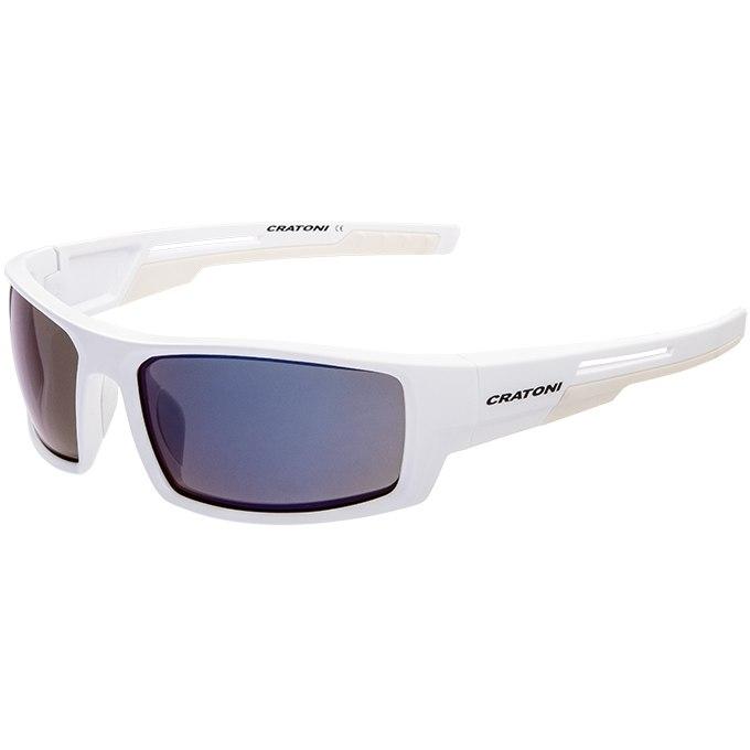CRATONI Raw Glasses - White Matt/Smoke Silver