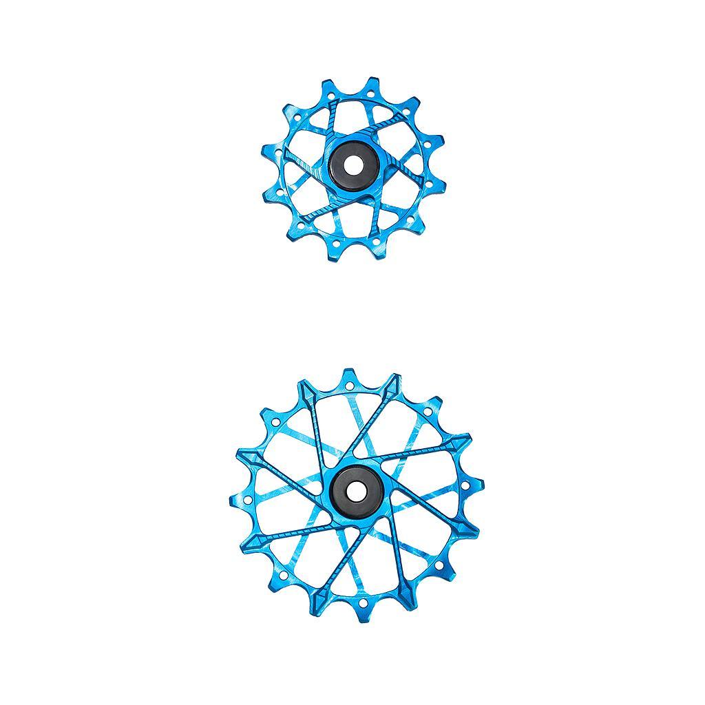 Garbaruk Derailleur Pulleys for SRAM 11/12-speed Rear Derailleurs with Garbaruk Cage (Pair) - 12T + 16T