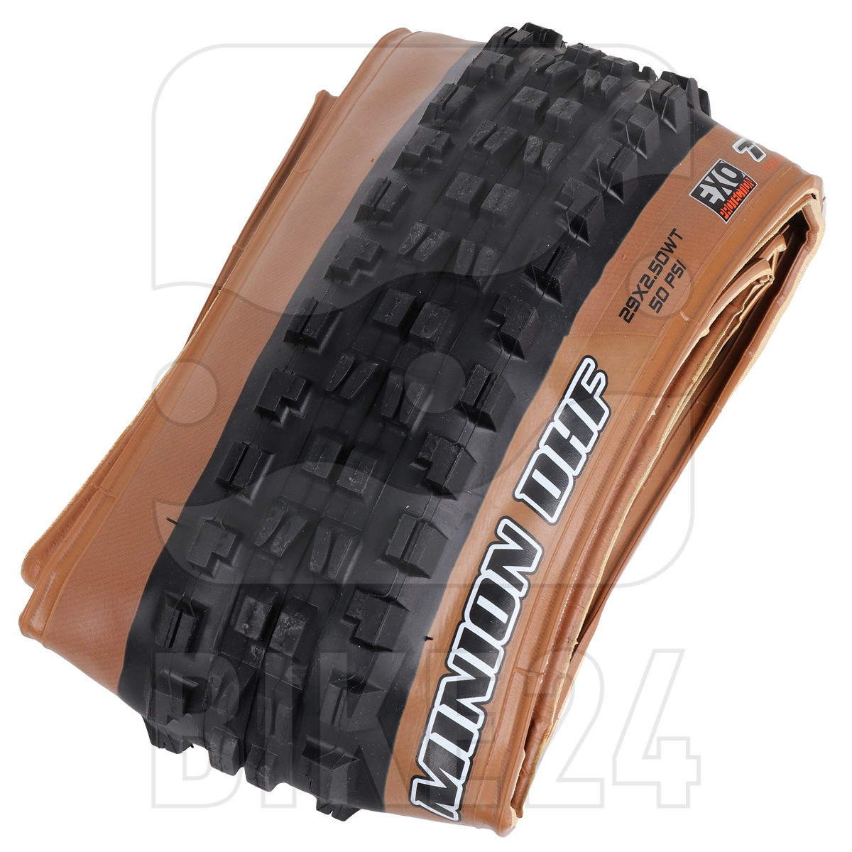 Picture of Maxxis Minion DHF Front MTB Folding Tire WT TR EXO Dual - 27.5x2.50 inches - Skinwall