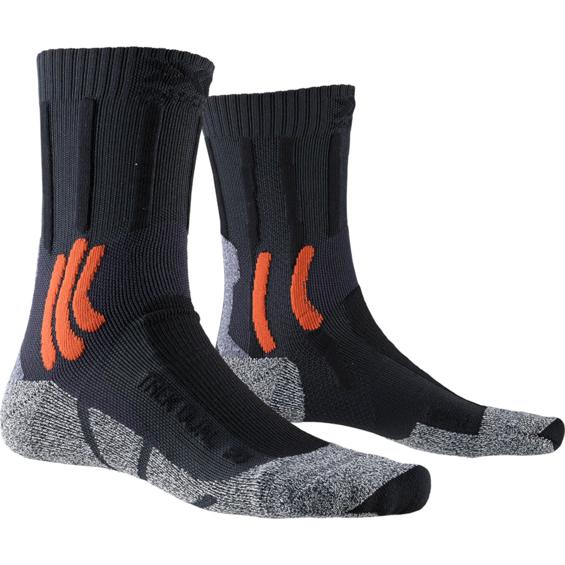 X-Socks Dual Trek Unisex Socken - granite grey/bonfire orange