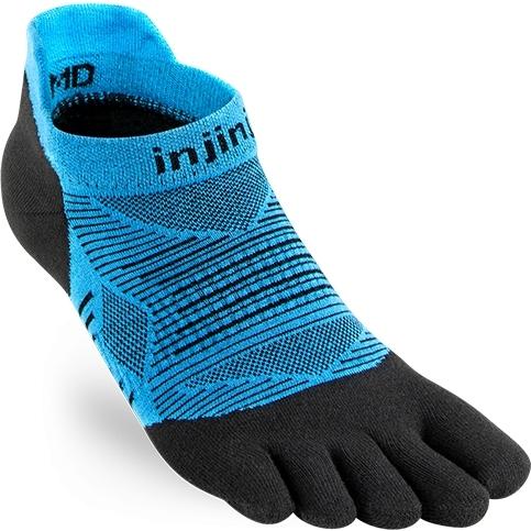Produktbild von Injinji Run Original Weight No-Show Coolmax Socken - blau