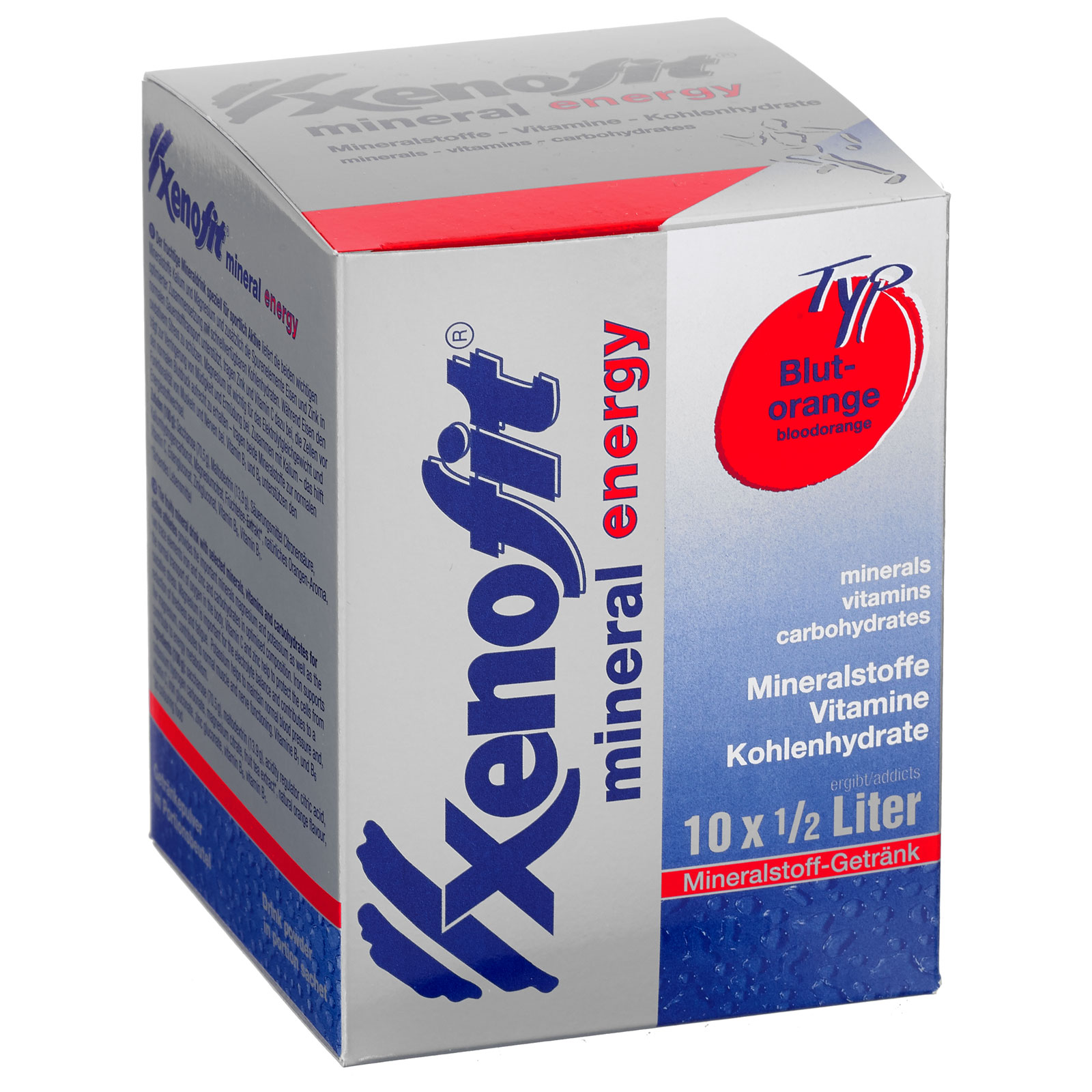 Xenofit Mineral Energy Drink mit Kohlenhydraten - 10x36g