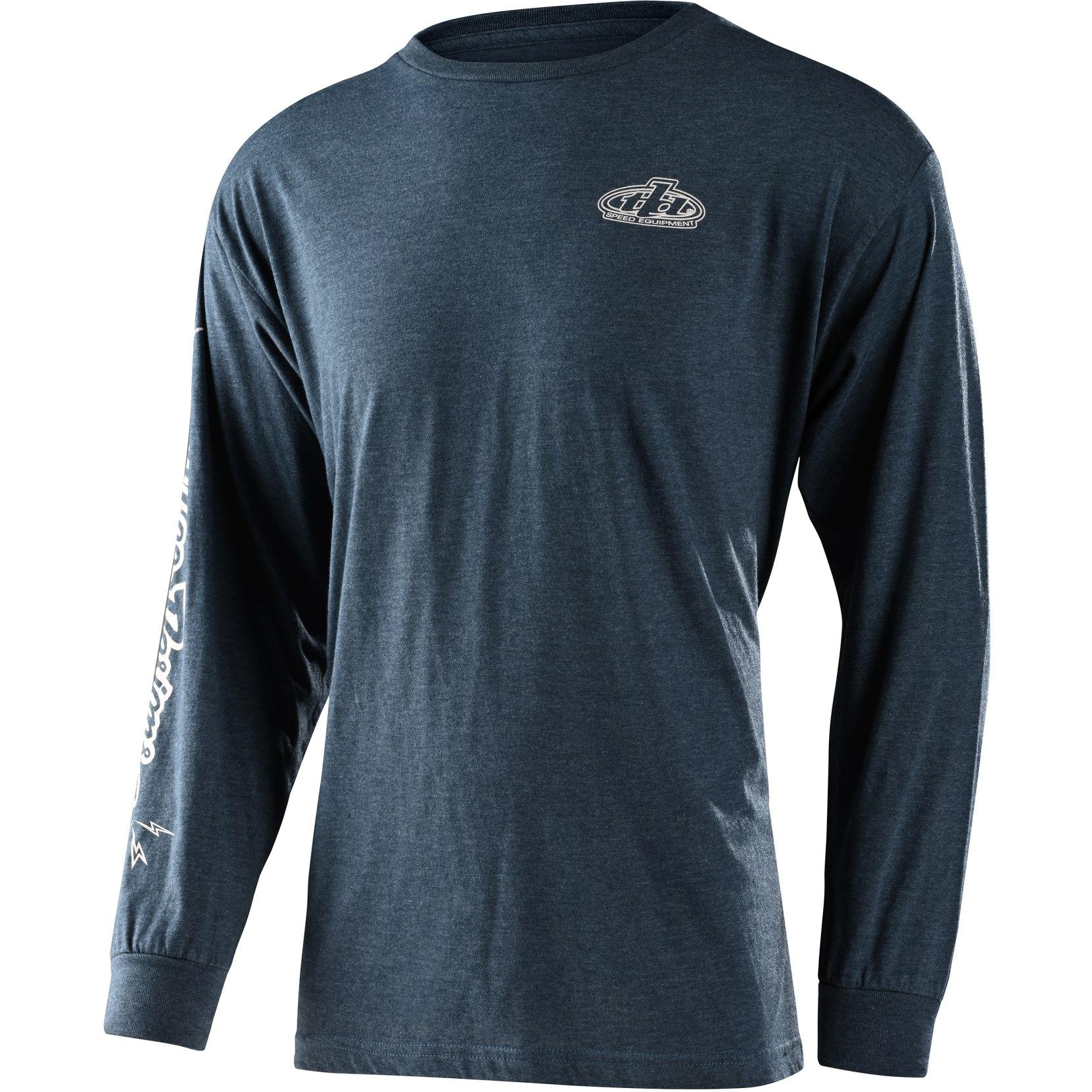 Produktbild von Troy Lee Designs Pistonbone Langarm-Shirt - Navy Heather