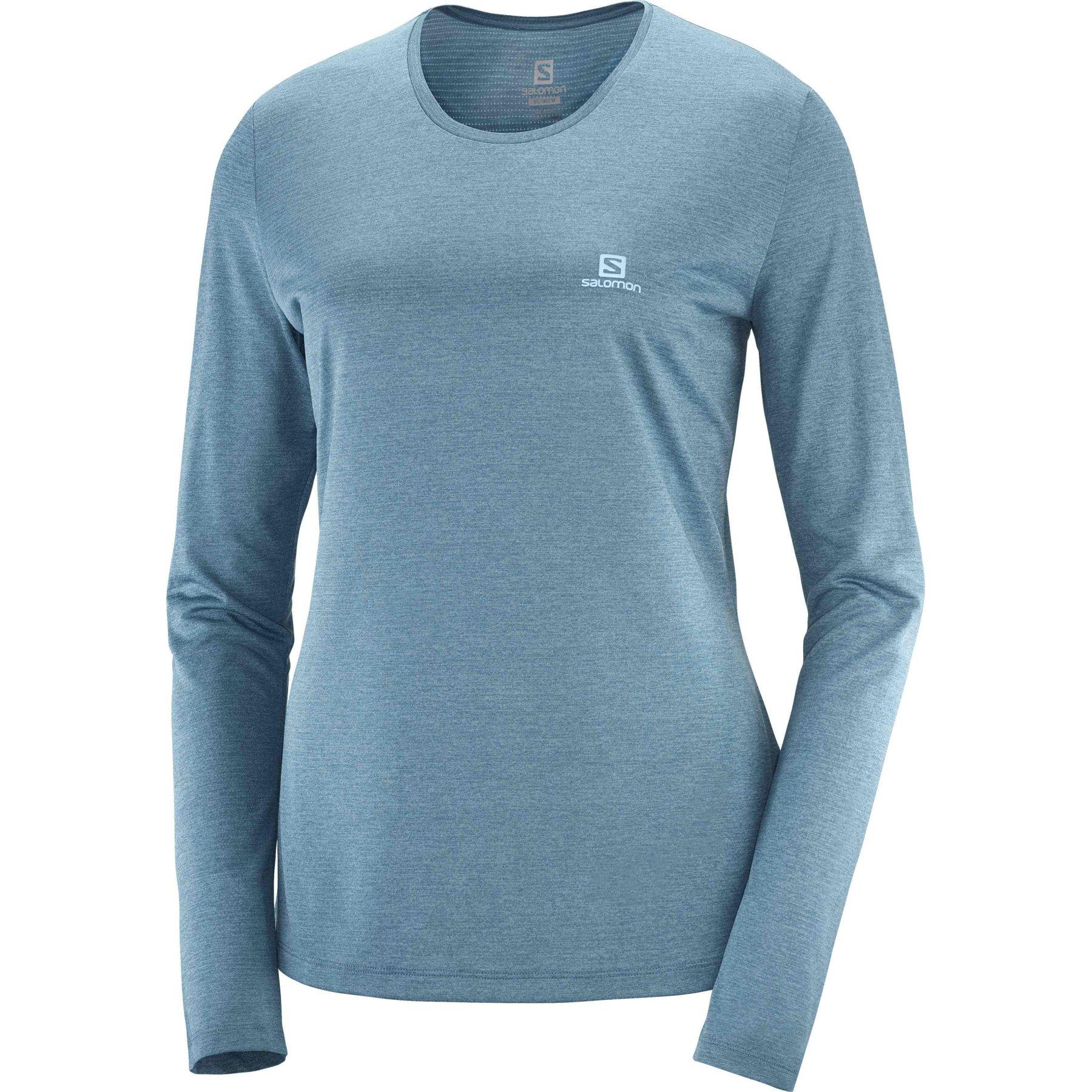 Produktbild von Salomon Agile LS Tee W Damen-Langarmshirt - mallard blue