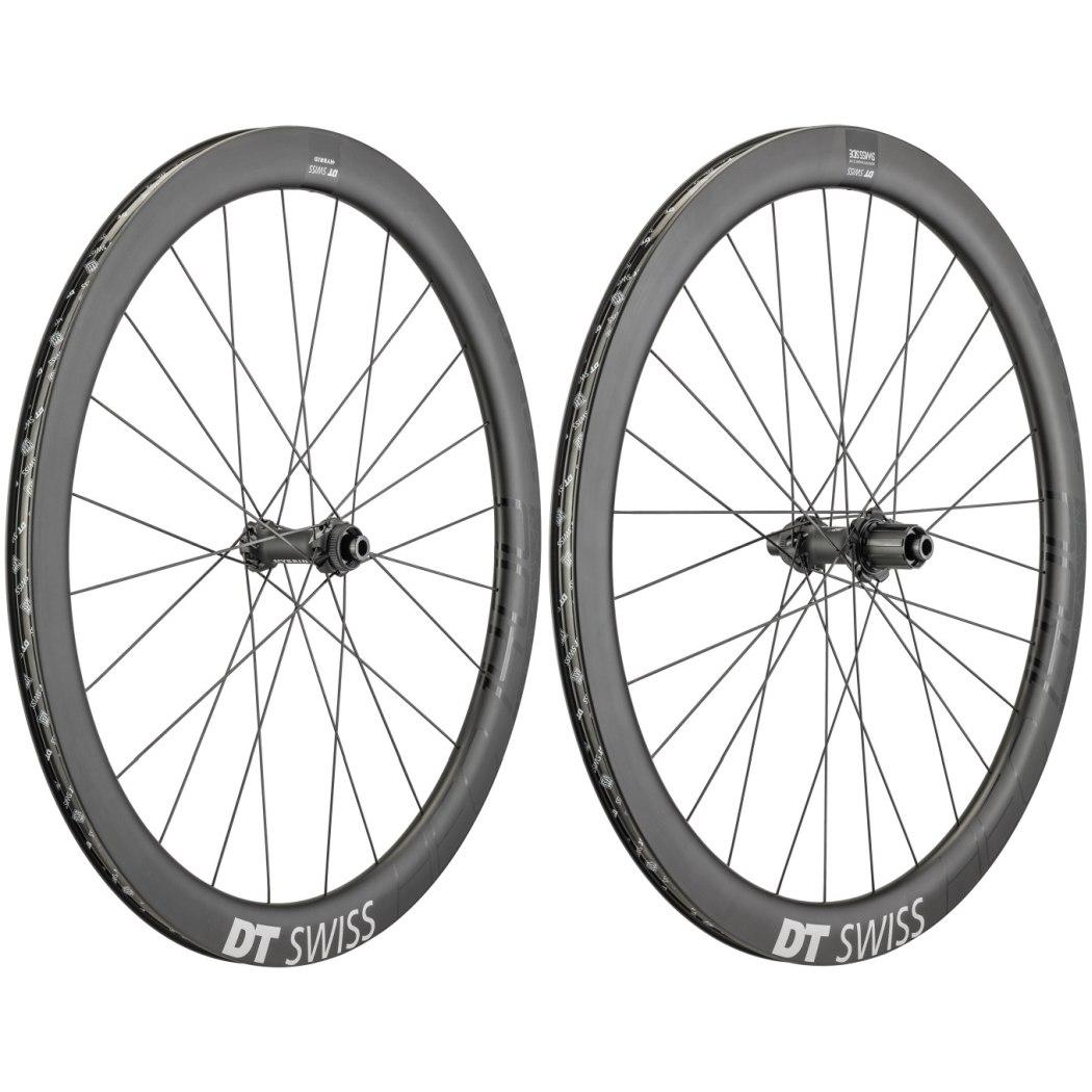 "DT Swiss HEC 1400 Spline Carbon db 47 - 29"" / 700C Wheelset - Clincher - Centerlock / 6 Bolt - FW: 12x100mm   RW: 12x142mm"